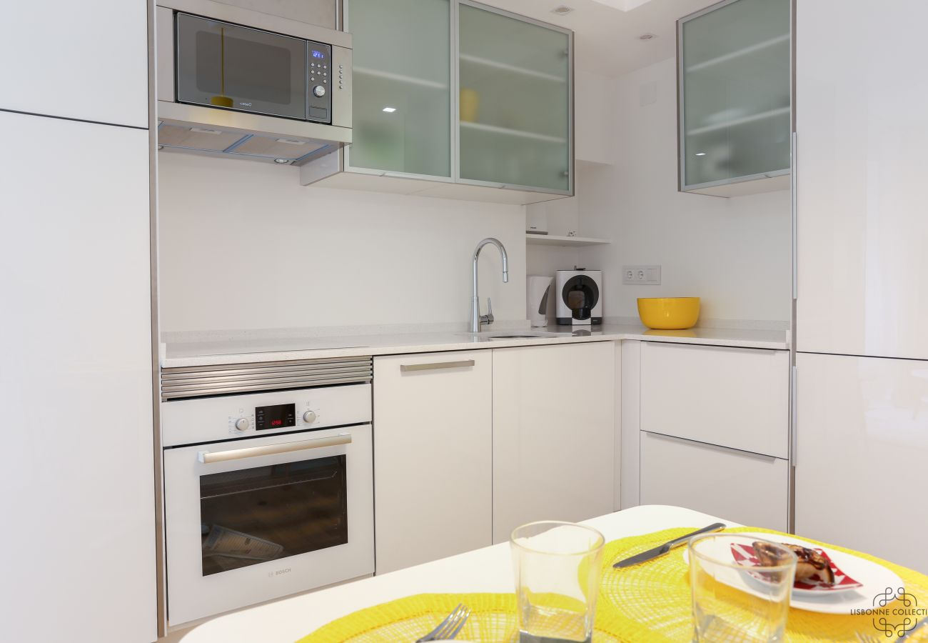 fully equipped kitchen in downtown Lisbon
