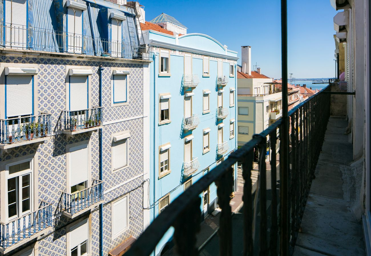 Balcony view of the rental apartment in the city center