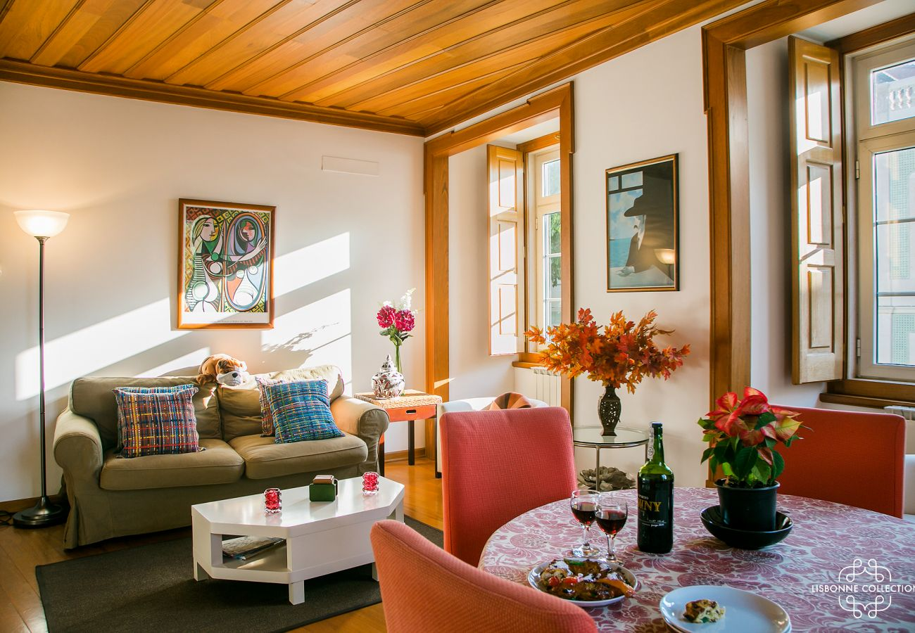 Wooden lounge with typical interior for rent