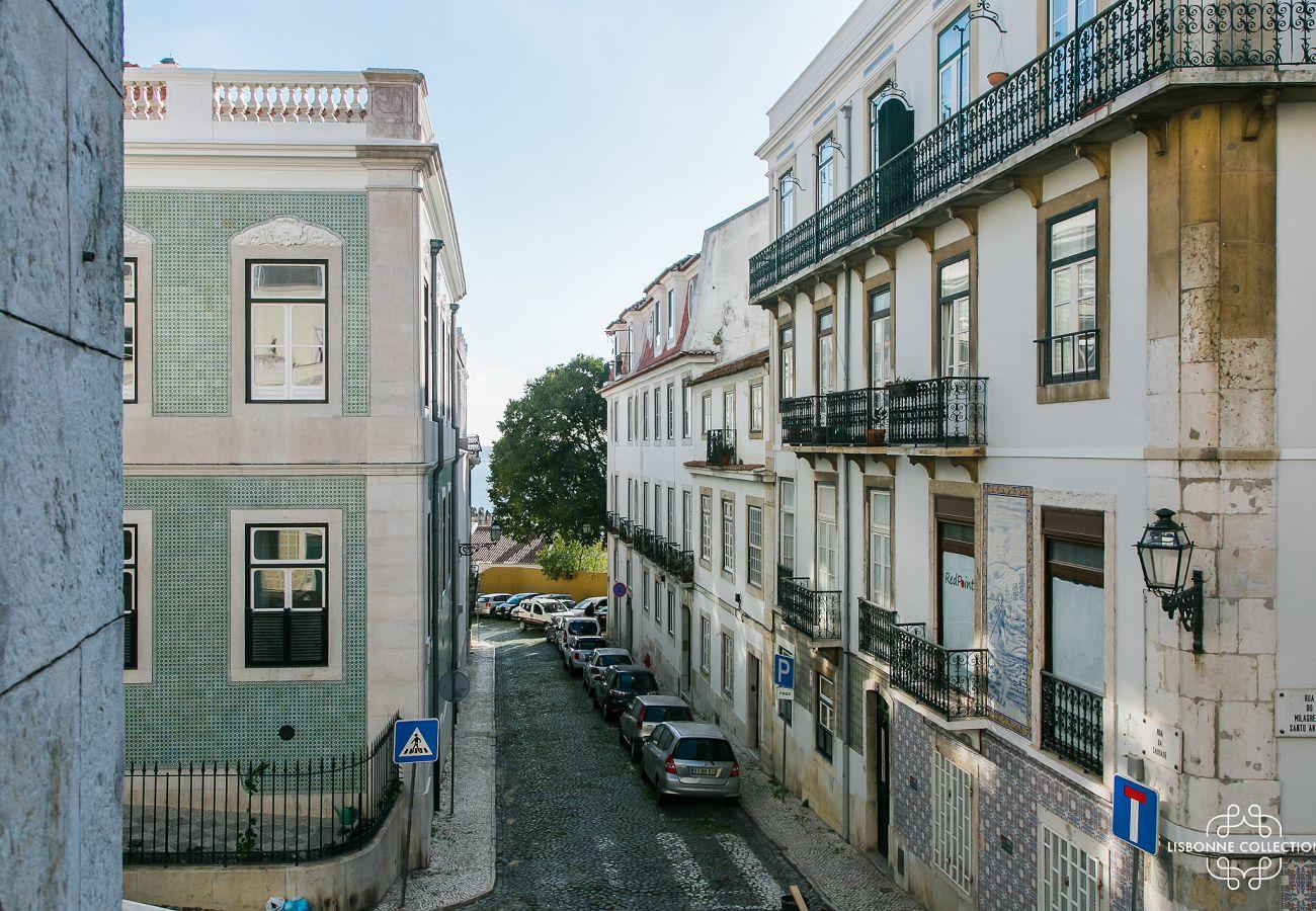 View of the window of the prestigious apartment
