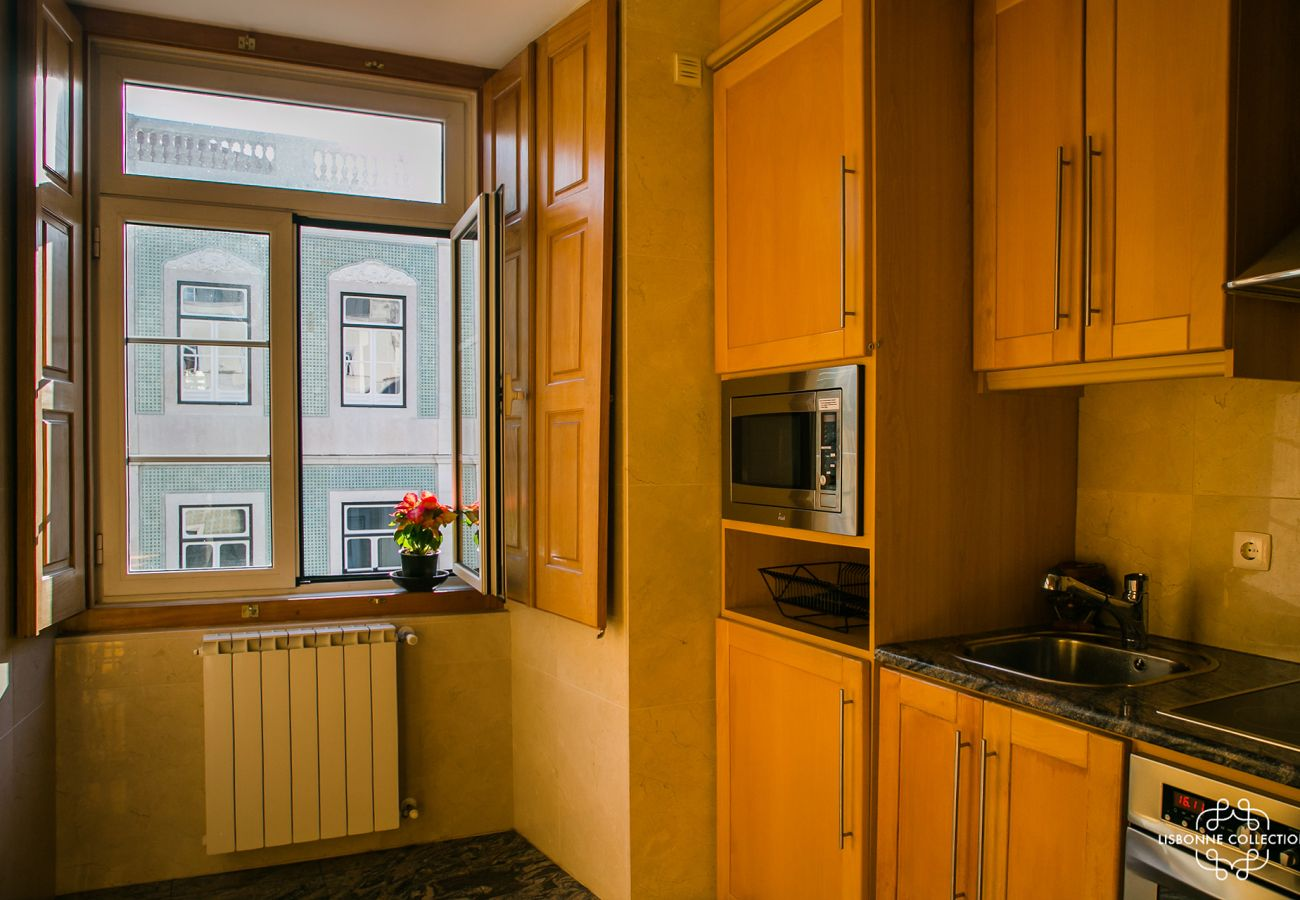 Bright and rustic kitchen of standing in the center of the Portuguese capital