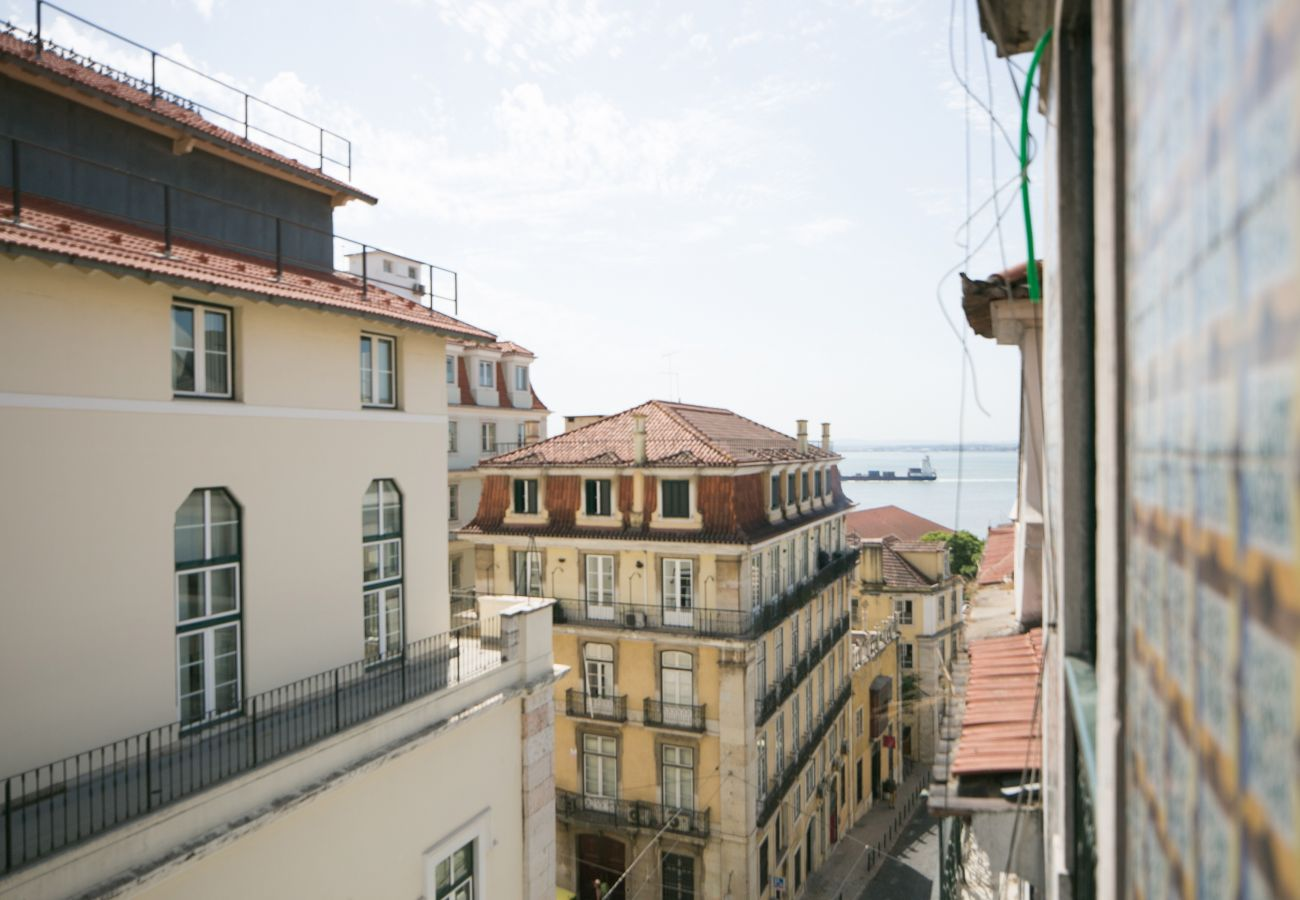 View of the exterior access to the historic Chiado district