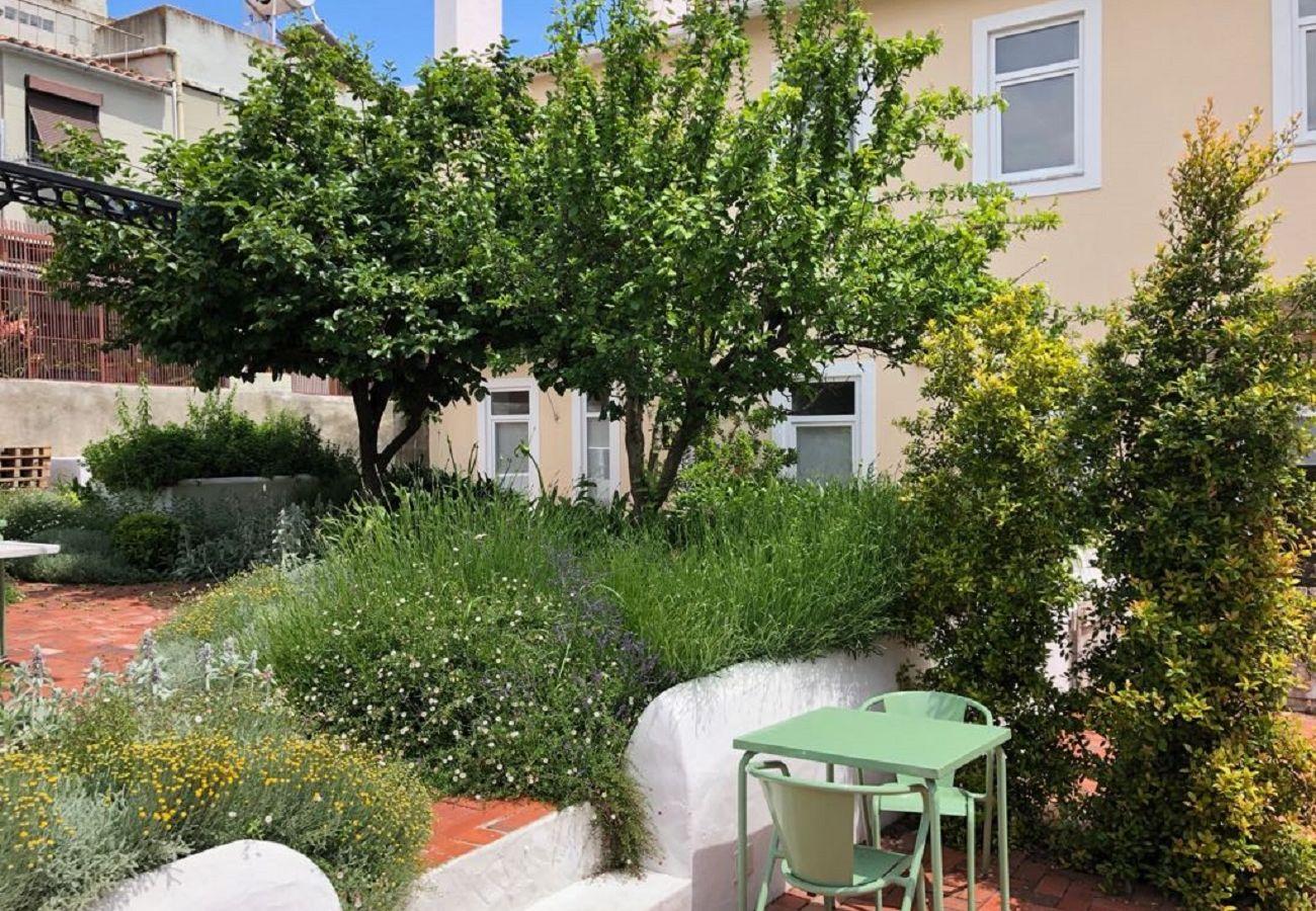 Studio in Lisbon - Beautiful Garden Terrace Studio Apartment 29 by Lisbonne Collection