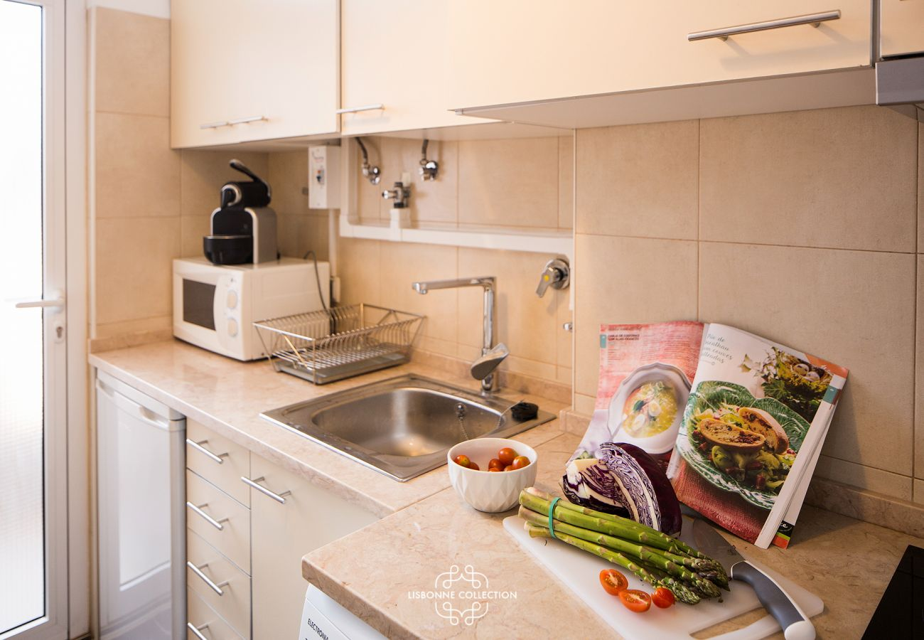 Kitchen in an apartment in the center of the