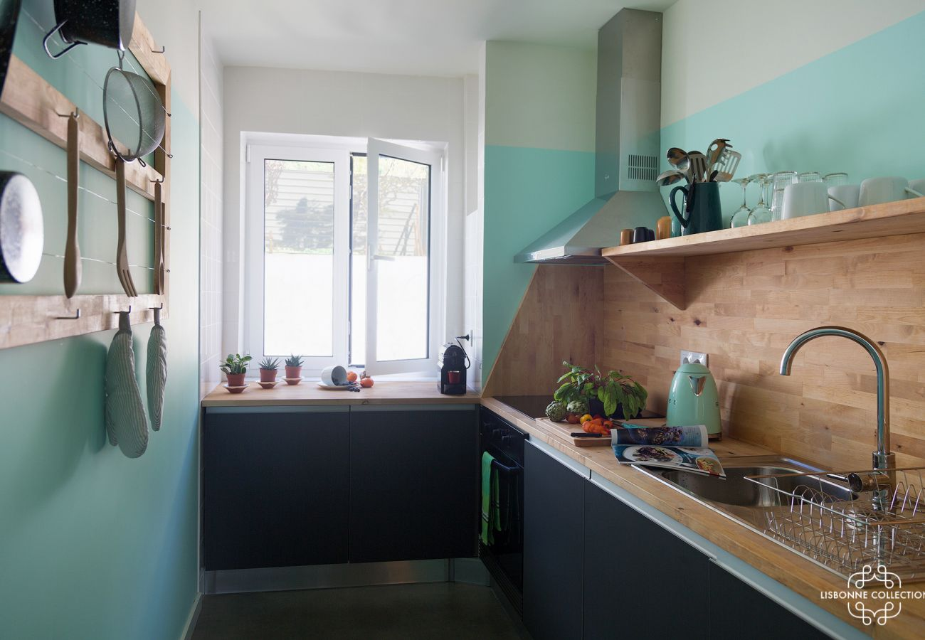 Bright and colorful kitchen of prestige for holidays