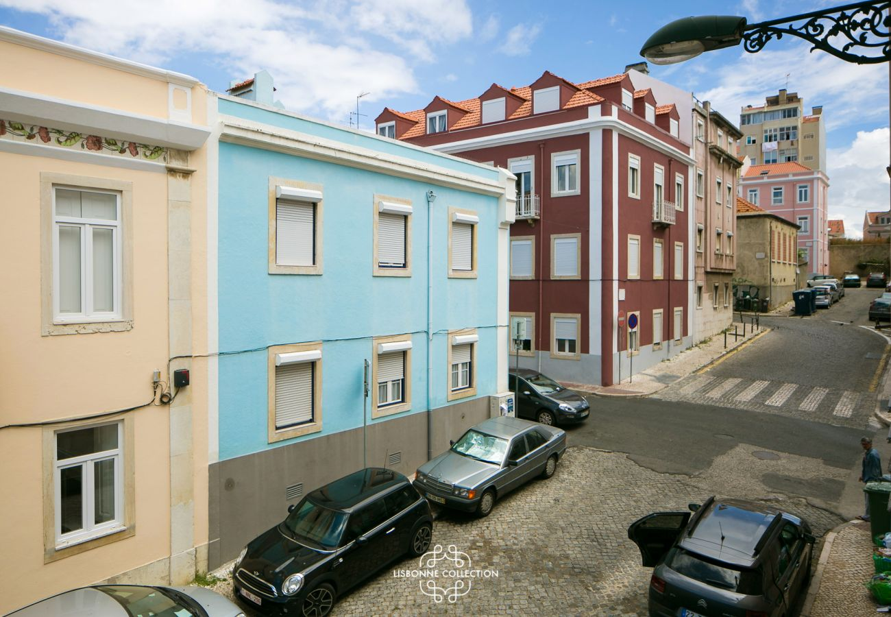 View of the apartment for rent in downtown Lisbon