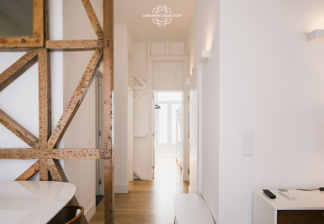 Corridor of the entrance giving on the rooms and on the American kitchen