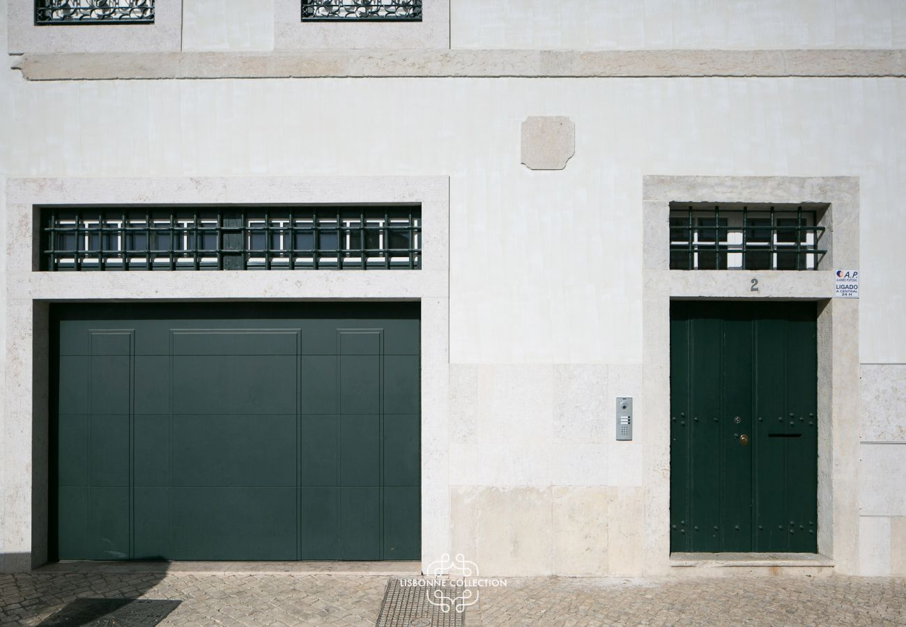 Garage door and building entrance door